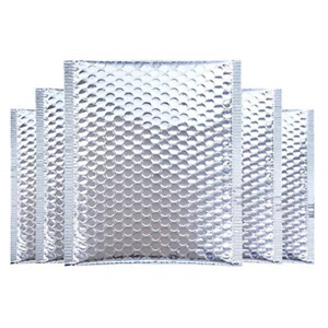4 3x4 3 Inches Small Bubble Mailers Silver Metallic Bubble Padded Envelopes Self