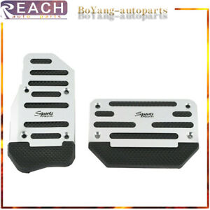 Silver Universal Racing Sports Non Slip Automatic Car Gas Brake Pedal Pads Cover