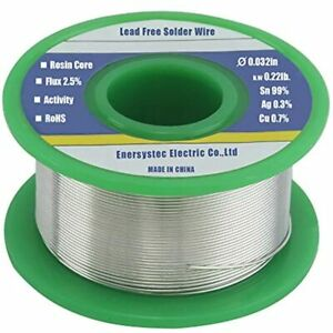 Solder Wire Rosin Flux Core Fine Electrical Lead Free 0 8mm 100g Sn99 Ag0 3 For