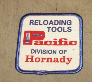 PACIFIC RELOADING TOOLS Division of Hornady 3quot; White Hat Shirt Gear PATCH $6.50