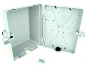 New Plastic Junction Box Electrical Project Enclosure Hinged Lid 9 6 3 Gray