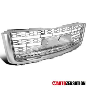 For 2007 2013 Gmc Sierra Denali 1500 2500 Light Duty Chrome Mesh Upper Grille