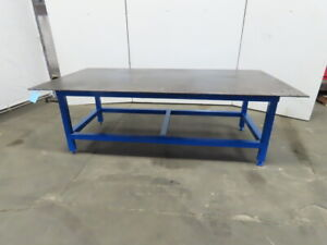 1 2 Thick Steel Fabrication Layout Welding Table Work Bench 96 x48 x32 High
