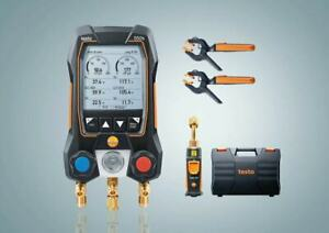 Testo 550s Smart Kit Digital Manifold With 2 Way Valve 115i Temp Probes x2