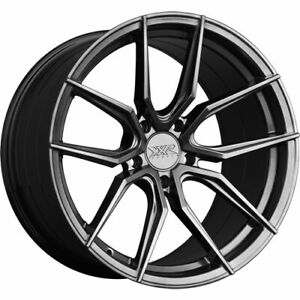 4 Staggered 19x8 5 19x10 Xxr 559 Chromium Black 5x120 40 40 Wheels Rims