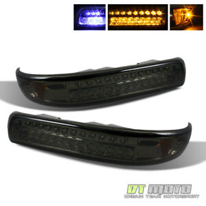 Smoked 1999 2002 Silverado 2000 2006 Tahoe Suburban Led Bumper Signal Lights Set