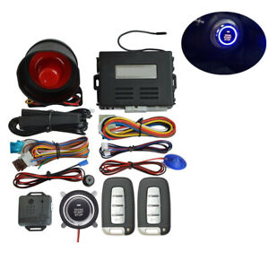Car Alarm Security System Button Remote Kit With Keyless Entry pke Induction