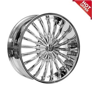 20inch Velocity Wheels Vw11 Chrome Rims Silver Color 4qty