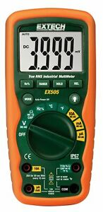 Extech Ex505 Handheld Multimeters Type Digital Style Hand held