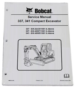 Bobcat 337 341 Compact Excavator Service Manual Owners Maintenance Manual