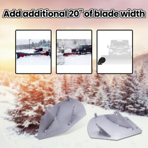 Brand New Silver Snow Plow Wing Extension For Pw22