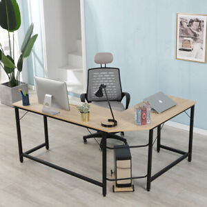 Home Office L shaped Corner Desk Computer Gaming Desk Pc Table Writting Table