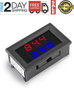 Dual Digital Fahrenheit Led Display Thermometer K type Thermocouple High Temper