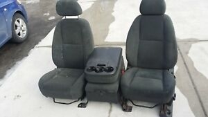 Chevy Silverado Sierra Avalanche Front Seats Jump Seat Set Cloth 2000 2014