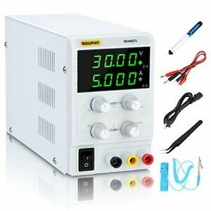 Dc Power Supply Variable 30v 5a Adjustable Switching Regulated Power Supply W