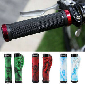 2pcs Shock Absorption Rubber Anti Slip Bicycle Grip Lock On Parts Handle Cover