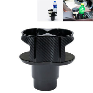Universal Car Console Dual Cup Holder Van Storage Drinking Bottle Mount Stand
