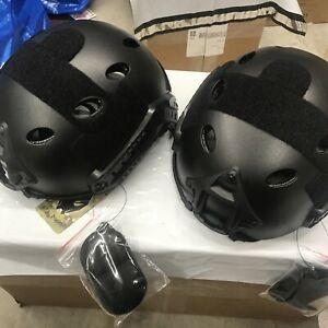 Lot of 2 ATAIRSOFT Pj Type Tatical Paintball Airsoft Fast Helmet $49.99