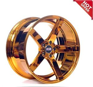 20 Staggered Str Wheels 607 Candy Copper Rims