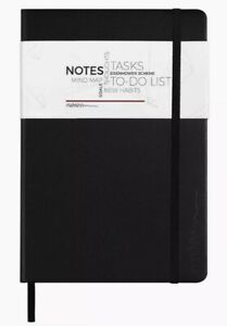 Hardcover Undated Planner Notebook Daily Weekly Monthly Planner Black