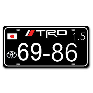 Auto Car Japan Flag License Plate Tag Cover Racing Trd Sport Enthusiast