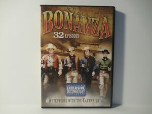 Bonanza: 32 Episodes Adventures with the Cartwrights DVD 4 Disc Set $14.99