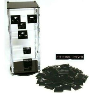 Revolving Rotating Acrylic Jewelry Display Stand With 100 1 1 2 Earring Cards