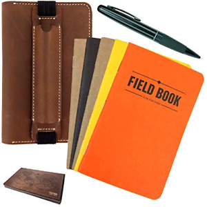 Handcrafted Stitched Leather Journal Notebook Cover Gift Set Includes Pen 5