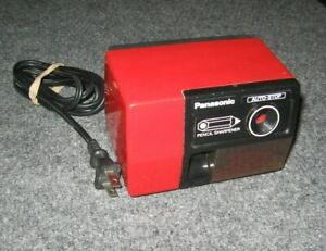Panasonic Electric Pencil Sharpener Model No Kp 123 Red Auto Vintage Tested