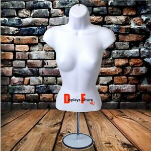 Mannequin For Jewelry Or Clothing Display s Female Form Stand Hook White