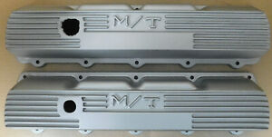 Mickey Thompson 3285425 Olds 307 455 Cast Aluminum Valve Covers Painted Silver