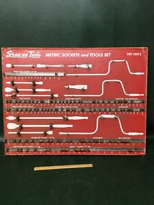 Vintage Snap On Tools Vev1021s Tool Shadow Control Board Metric Sockets Tool Set