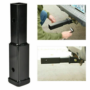 Tow Trailer Hitch Extender Receiver Extension Tube 8 Distance Between Holes