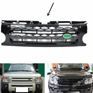 Black Mesh Cover Car Front Grille Grill For Land Rover Discovery Lr3 2005 2009 S