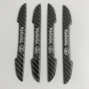 For Toyota Car Logocarbon Fiber Ultra thin Car Door Edge Guard Side Doorsticker
