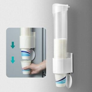 Single Cup Dispenser Water Cooler Paste Screw Plate Mountable Holder And Storage