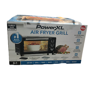 Powerxl Air Fryer Grill 8 In 1 Electric Indoor Grill Black
