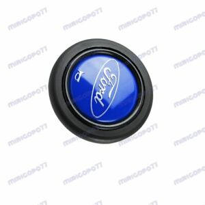 New Sport Steering Wheel Horn Button Blue Black Fits All Ford Momo Raid Nrg X1
