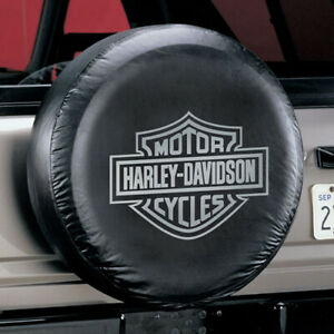 Harley davidson Spare Tire Cover Grey Bar Shield Logo Fits 27 To 31 Tires