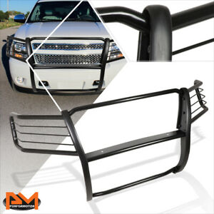 For 07 14 Chevy Suburban tahoe Front Bumper Brush Grille Guard Protector Black