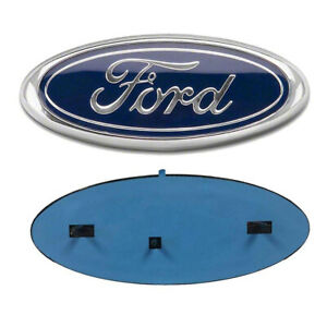 9 Blue Front Grille Tailgate Emblem Oval Badge Nameplate For Ford F150 F250