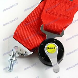 4 Point Red Camlock Quick Release Car Seat Belt Harness Racing Universal Sabel