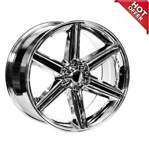 4ea 22 Inch Iroc Wheels Chrome 6 Lugs Rims S8