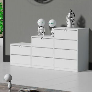 Home Office 2 Drawers File Cabinet Metal Storage With Locking Lateral Cabinet