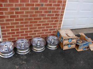 Vintage Nos Appliance Chrome Basket Wire Wheels 13x5 5 4x4 5 Bc