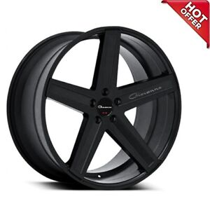 4ea 24inch Giovanna Wheels Dramuno 6 Black Rims s13