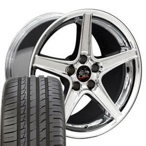 Fits 18 Saleen Style Chrome Wheel Set Fit Ford Mustang