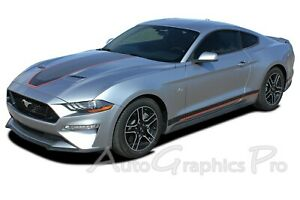 2018 2021 Ford Mustang Mach 1 Racing Stripes Graphics Super Sonic Hood Decals