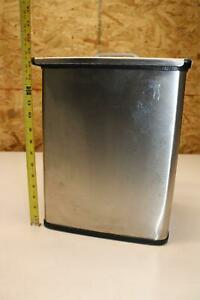 Biodex Shielded Lead Lined Stainless Steel Waste Container Trash Can 15x12x10