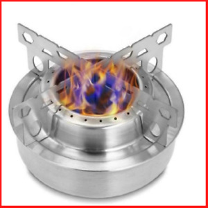 Outdoor Camping Mini Titanium Alcohol Stove Cooking Burner W cross Stand